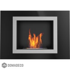 Ontario Black wall mounted bioethanol fireplace modern style fireplace for your home Bio Ethanol, Ethanol Fuel, Bioethanol Fireplace, Modern Fireplace, Ontario, Black Walls, White Walls, Wall Mounted Fireplace, External Doors