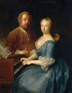 Antoine Pesne (1683-1757) —  Carl Heinrich Graun and his wife Anna Dorothea,1735-1744  (790×1023)