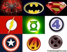 SuperHeros Logo Cross Stitch Pattern In Pdf
