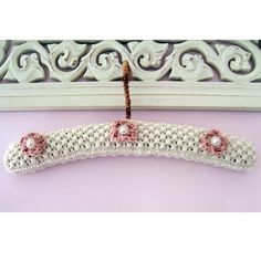 Vintage Coat Hanger Its always lovely to have a special hanger for your wedding dress /flower girl dress or that special little number Crochet Border Patterns, Crochet Pillow Patterns Free, Knitting Patterns, Crochet Coat, Knitted Coat, Childrens Coat Hangers, Bunting Pattern, Wooden Hangers, Diy Hangers