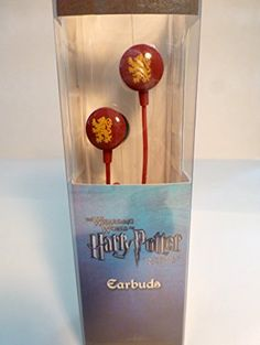 (Back in stock) - Harry Potter Gryffindor Earbuds - Ideal for all smartphone, MP3, CD, DVD, MD players & portable game systems w/ headphone sockets.