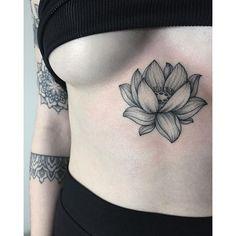 #mulpix Beautiful lotus #sashatattooing #linework #dotwork #tattoo #love #lotus #lotustattoo