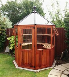 Dagdale a small octagonal greenhouse or use as a gazebo for Octagonal greenhouse plans