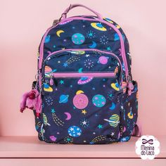 Mochila Galaxy, Videos No Instagram, Kipling Bags, Cute Backpacks, Vera Bradley Backpack, School Supplies, Foto E Video, Fashion, Fashion Stores