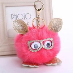 😍Sparkly Owl Pom Pom Keychain😍 Super cute faux fur owl with shimmery ears, glasses, and feet. The pom pom measures inches wide and the keychain 4 inches long. The key ring is in golden tone😍 Accessories Key & Card Holders Fluffy Animals, Cute Owl, Golden Color, Rabbit Fur, Key Card Holder, Animal Jewelry, Pink And Gold, Pink Purple, Charm Jewelry