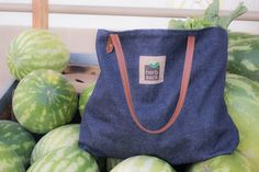 The hemp denim Janice tote by herbsack. Available at www.herbsack.com