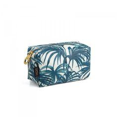 PALMERAL Medium Box Wash Bag - White / Azure £45.00