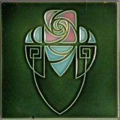 Art Nouveau Tile, Gilliot Hemiksem, Belgium, c. Art Nouveau Tiles, Art Nouveau Design, Design Art, Motifs Art Nouveau, Azulejos Art Nouveau, Art Nouveau Pattern, Pottery Designs, Pottery Art, Jugendstil Design