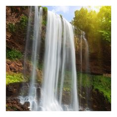 Vliestapete - Waterfalls - Fototapete Quadrat