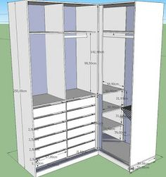 Ikea Closet Organizer, Bedroom Closet Storage, Closet Drawers, Bedroom Closet Design, Master Bedroom Closet, Closet Shelves, Closet Designs, Home Decor Bedroom, Corner Wardrobe