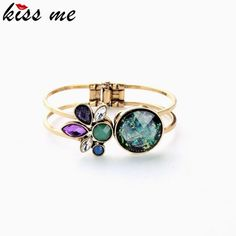 High-end Fashion Retro Alloy Artificial Gemstone Cuff Bracelet  Bangle Who like it ?Get it here --->  http://www.servjewelry.com/product/high-end-fashion-retro-alloy-artificial-gemstone-cuff-bracelet-brand-bangle-factory-wholesale/ #shop #beauty #Woman's fashion #Products #homemade