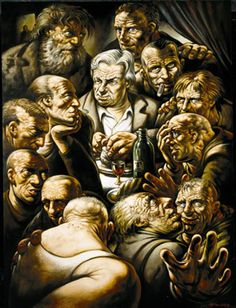 """Isn't this a better picture of what the """"Last Super"""" REALLY looked like? Peter Howson, Last Supper, Cool Pictures, Cool Art, Statue, Image, Artists, Flat, Design"""