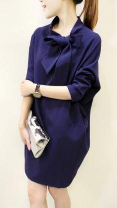 Rochie bleumarin, maneca fluture Blouse, Long Sleeve, Sleeves, Tops, Women, Fashion, Moda, Women's, Fashion Styles