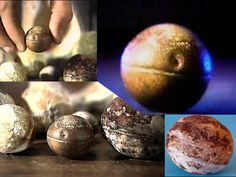Klerksdorp spheres - I've read about these before in Ancient Traces and Forbidden History. Almost 3 billion years old, they couldn't have been made by humans. And yet they definitely look like they were made by some intelligent life, and made to last! It's been suggested that they came from an ancient world-ship that 'seeded' the early Earth with life-generating DNA.