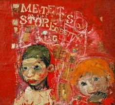Brian and Pat Samson by Joan Kathleen Harding Eardley Oil & collage on board, x 44 cm Collection: Dumfries and Galloway Council (Gracefield) Inspirational Artwork, Glasgow, Popular Artists, Famous Artists, Paintings I Love, Your Paintings, Art Uk, Outsider Art, Oeuvre D'art
