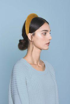 Yellow Velvet Headband. Made in Italy by #Bluetiful craftmen