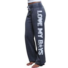 Dallas Cowboys Ladies Suzie Heathered Fleece Pants - Navy Blue