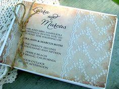 Wedding invitations vintage lace  cottage by sweetinvitationco, $100.00