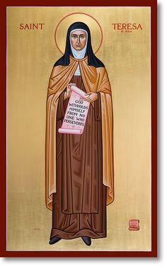 St. Teresa of Avila original icon 48' tall