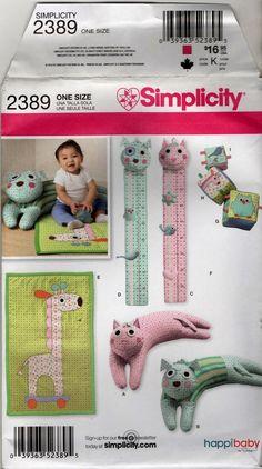 2389 Children sewing pattern Booster Pillow baby blocks play mat growth chart