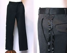 JUNYA WATANABE COMME des GARCONS Ladies Black Frills Pants Trousers  US size XS