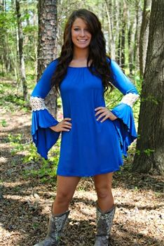 Marilyn Tunic Dress - Royal $36.99 #SouthernFriedChics
