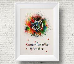 The Lion King Simba Quote Watercolor Art Print Wall Art Home Decor Giclee Inspirational Art Home Decor Wall Hanging