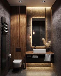 The best design ideas for 2020 ideas – Dekorat … - Modern Wc Design, Design Loft, Home Room Design, Home Interior Design, Graphic Design, Washroom Design, Bathroom Design Luxury, Modern Bathroom Design, Modern House Design