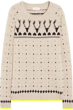 Chinti and Parker | Reindeer intarsia cashmere sweater | NET-A-PORTER.COM