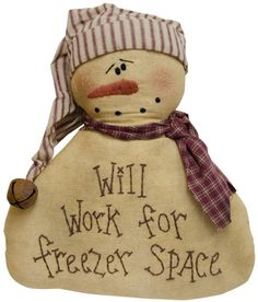 Freezer Space Snowman - Kruenpeeper Creek Country Gifts