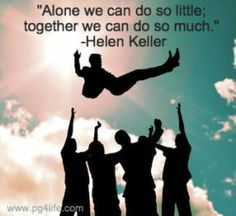 A Helen Keller Picture Quote about Teamwork