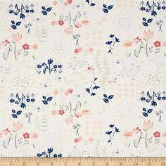 Designed for Art Gallery Fabrics, this collection is inspired by love letters. Fall in love with this Paperie collection that features hearts, flowers and post marked love letters. Art Gallery Fabric features 200 thread count of finely woven cotton. This floral cotton print is perfect for quilting, apparel and home decor accents. Colors include mint green, blush pink, navy blue, grey, peach and teal.
