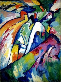 Wassily Kandinsky, Improvisation VII. Kandinsky (1866-1944) was an influential Russian painter and art theorist. He is credited with painting the first purely abstract works.