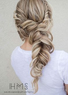 The sweet simplicity of a loosely pulled back style isn't lost on us. Hairstyles, Braid, Hairstyles for long hair, Bridal Updos