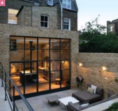The kitchen extension above was designed by Ade Architecture and was recently featured in Living Etc – I love it! What an amazing space to live and hang out in. Extension Veranda, House Extension Design, Glass Extension, House Design, Rear Extension, Victorian Terrace, Victorian Homes, House Extensions, Windows And Doors