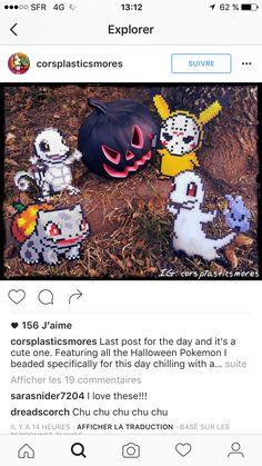 Spooky pokemon halloween hama sprites