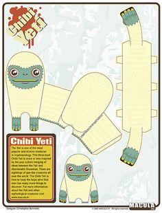 Chibi Yeti Paper Toy | Flickr – Condivisione di foto!