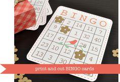 Silhouette Blog: tutorials  DIY Print and Cut Bingo Card