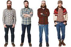 conjunto para hombres de leñador