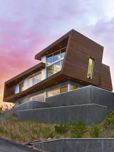 Hariri&Hariri Architecture have designed this wood-clad modern beach house in Provincetown, Massachusetts, that faces a salt marsh and a mile-long stone breakwater.