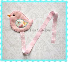 Bird+Hair+Clip+Keepre+Bow+Holder+Organizer+by+SweetPeaStitches84,+$10.00