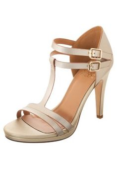 Sandales - gold Even And Odd, Laura Biagiotti, Leather Sandals, Block Heels, New Look, Espadrilles, Outfits, Summer, Fashion