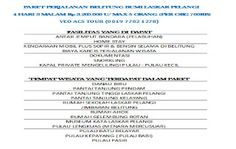 wisata murah pulau belitung 4 hari 3 malam hanya 700Ribu per org sudah dpt 7 fasilitas: Dapatkan penawaran paket liburan menarik & irit da...