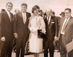 The gentleman standing next to JFK is Victoria Reggie Kennedy's father Edmond Reggie