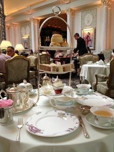 Afternoon tea at the Savoy, England.