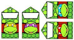 Ninja Turtle Birthday Cake, Ninja Birthday Parties, Ninja Party, Ninja Turtle Party, Birthday Fun, Ninja Turtle Shells, Ninja Turtle Mask, Templates Printable Free, Baby Shower