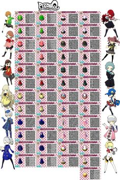 ACNL- Persona Q Female Collection QR Codes by ACNL-QR-CODEZ