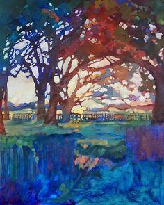 Louisiana Edgewood Art Paintings by Louisiana artist Karen Mathison Schmidt.