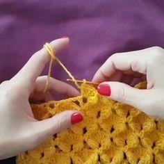 Best 10 Learn How To Crochet The Bean St Crochettutorial - Diy Crafts - Best Knitting Crochet Motifs, Crochet Stitches Patterns, Knitting Stitches, Crochet Designs, Knitting Patterns, Crochet Simple, Love Crochet, Crochet Crafts, Crochet Projects