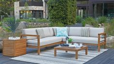 Lincoln Outdoor Modular Lounge Suite - Outdoor Lounges - Outdoor Living - Furniture, Outdoor & BBQs | Harvey Norman Australia